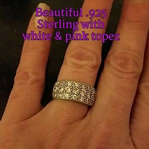 Jewelry - Beautiful .925 Sterling silver & topez ring.